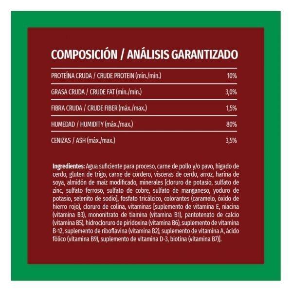 PURINA DOG CHOW PERRO ADULTO LATA CORDERO Y ARROZ COMPOSICION