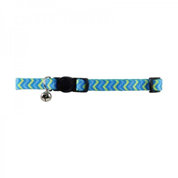 Collar Gato ripple blue