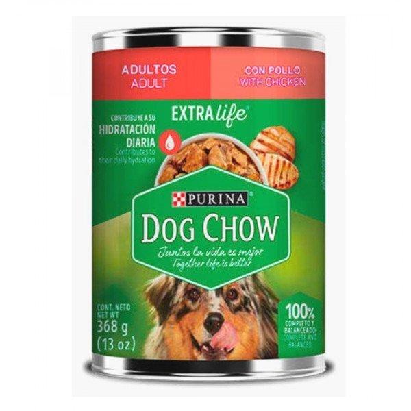 purina dog chow perro adulto lata trozos pollo