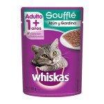 whiskas gato adulto sobre de souffle de atun y sardina