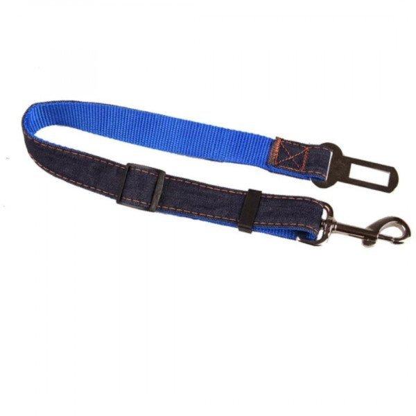 correa ajustable para cinturon de seguridad carro azul