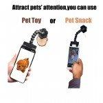 palo de selfie para mascotas doble camara